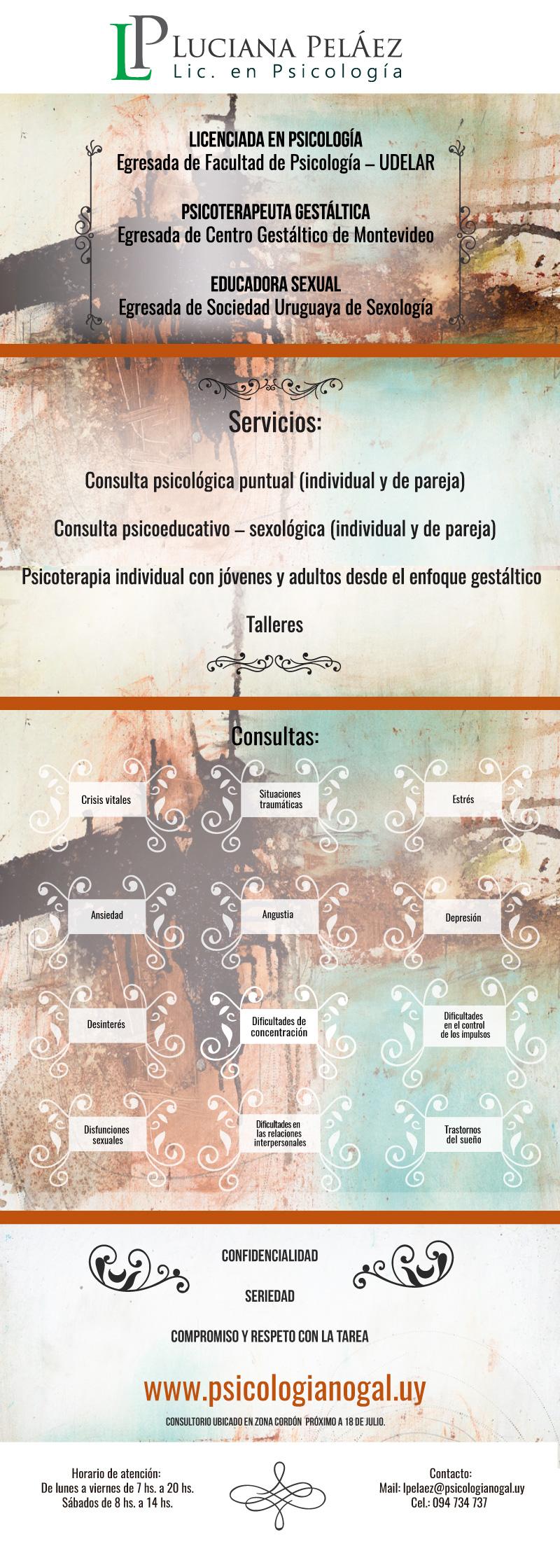 Luciana Peláez - Psicología y Educación sexual
